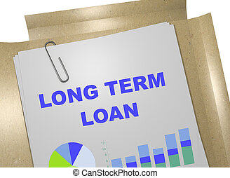 Long Term Loan concept - 3D illustration of LONG TERM LOAN...
