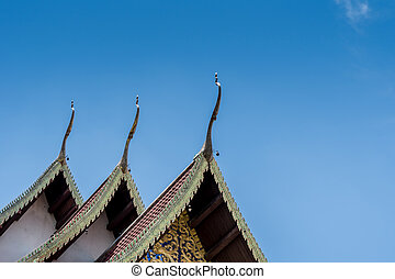 Part of Thai temple roof