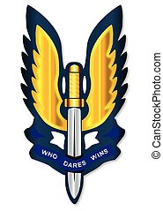 Special Air Service Badge - A depiction of the Special Air...