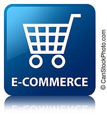 E-commerce blue square button