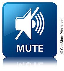 Mute blue square button