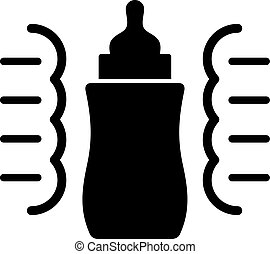 Steam sterilizer for a baby bottle, shade picture