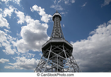 Petrin Lookout Tower (1892), resembling Eiffel tower, Petrin...