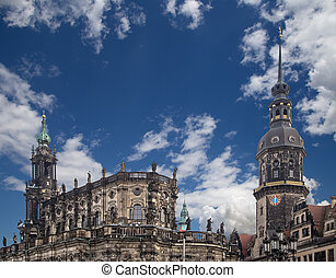 Hofkirche or Cathedral of Holy Trinity - baroque church in...