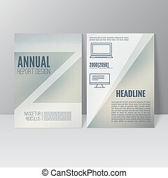 Brochure annual report Cover for journal, book, magazine...
