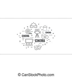 Abstract background with popcorn. - Abstract background with...