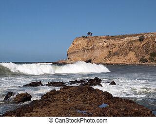 California Thunder Surf - Thunderous surf crashes into the...