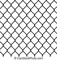 wired fence - wired frence field, silhouette illustration. -...