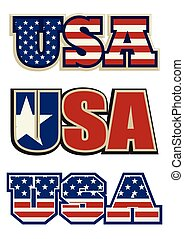 Text symbol and icon of the USA