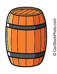Wooden Barrel - Graphic illustration of a wooden barrel...