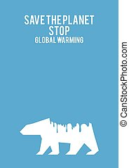 Global Warming Concept - Graphic illustration of a melting...