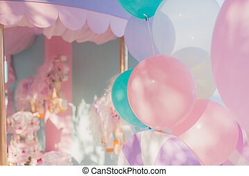 decoration birthday balloons - beautiful delicate decoration...