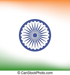 Abstract India flag background. Poster or brochure template....