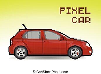 Red pixel car