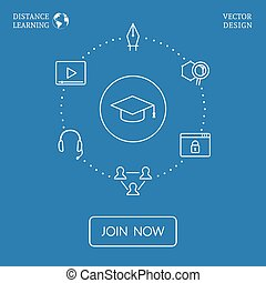 Vector Education Infographic - Distance learning concept...