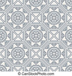 Vector Geometric Pattern - Seamless texture with arabic...