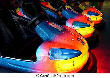 bumper cars - colorful bumper cars