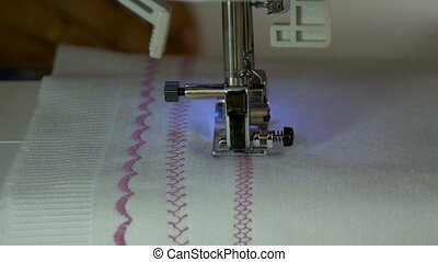 A sewing machine, sew the fabric HD