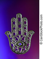 Hamsa with eye - Hamsa symbolizes good luck and protection,...