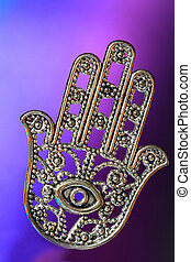 Hand of Fatima or Hamsa with eye - Hamsa symbolizes good...