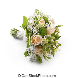 bride's wedding bouquet isolated on white