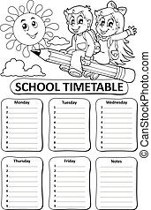 Black and white school timetable theme 7 - eps10 vector...