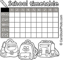 Coloring book timetable