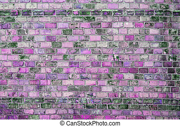 brick wall background - gray old of brick wall background