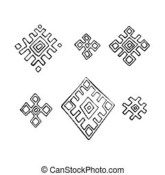 Russian textile elements