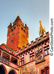 Rathaus, Basel Town Hall - Switzerland - Rathaus, the Town...
