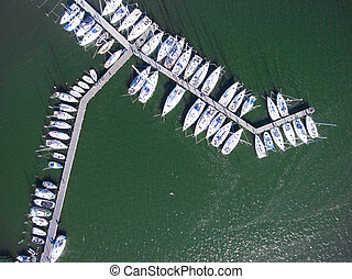 Harbor of Breege on Ruegen Island at Baltic Sea,Mecklenburg...