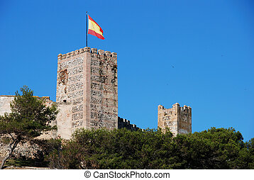 Sohail Castle, Fuengirola. - View of Sohail castle with a...