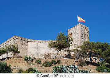 Sohail Castle, Fuengirola - View of Sohail castle,...