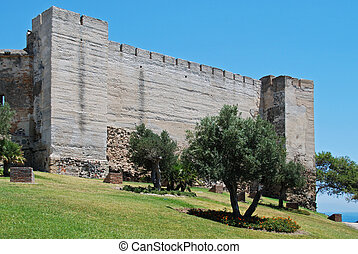 Sohail Castle, Fuengirola. - Sohail castle with the castle...