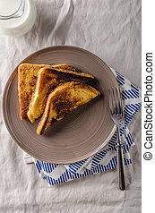 French toast product photo rustic styled, simple photo