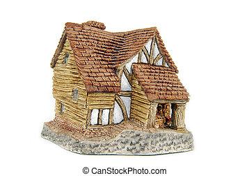 Miniatura, casa, aislado