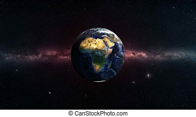 Planet Earth Rotation in Deep Space