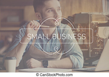 Small business concept - Start your business. Inspirational...