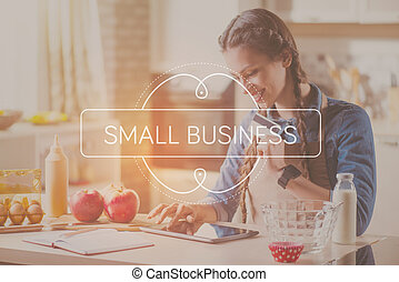 Small business concept - Online payment. Inspirational...
