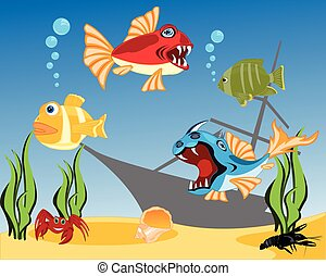 Tropical fish in water
