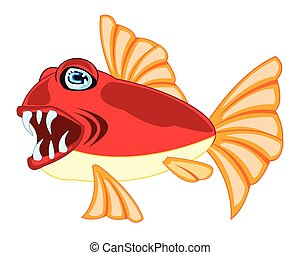 Tropical fish on white - Vector illustration of tropical...