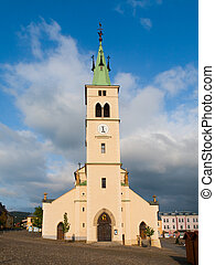 Church of St Margaret in Kasperske Hory - Front view of...