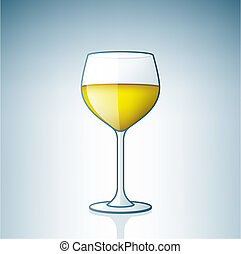 White Wine Glass (part of the Alcohol Glass Icons Set)