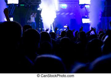 De-focused concert crowd