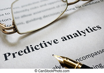 Predictive Analytics - Page of paper with words Predictive...