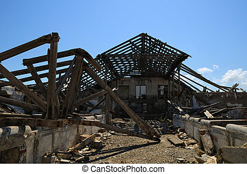 Ruins of the last century - The destroyed building ....