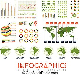 Infographics vector set illustration