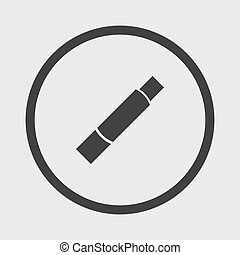 Lipstick icon - Vector tube stick glew isolation
