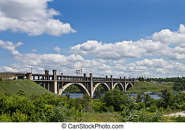 bridge across the Dnieper River