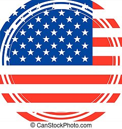 Staggered Stars and Stripes - A circular maize style image...